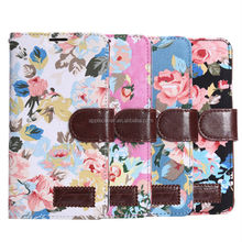 Fashion ladies retro flower flip leather wallet case for samsung galaxy note4 with stand ,for samsung note 4 phone case