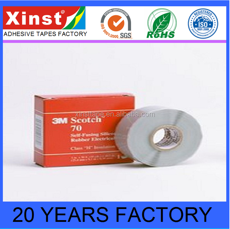 Equal To 3M70 Self Fusing Silicone Rubber Electrical Tape