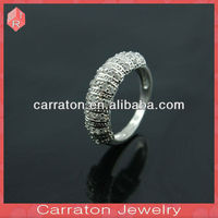 New arrival fashion cock ball silver 925 romantic ring with white cubic zircon