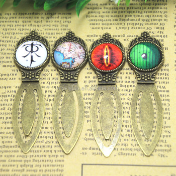 the Lord of the rings Fantasy Glass cabochon Bookmarks