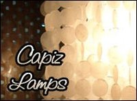 Capiz Shell Chandeliers natural white round