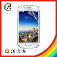 Phone ultra clear screen protectors for samsung galaxy S3 mini clear film