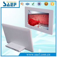 7 inch wall mount digital frame photo HD 1024x600 lcd advertising display support video/audio/picture