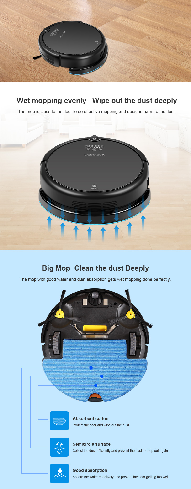 Gyroscope Navigation Wet and Dry Robot Vacuum Cleaner Q7000