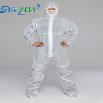 ppe white overall disposable safety overall