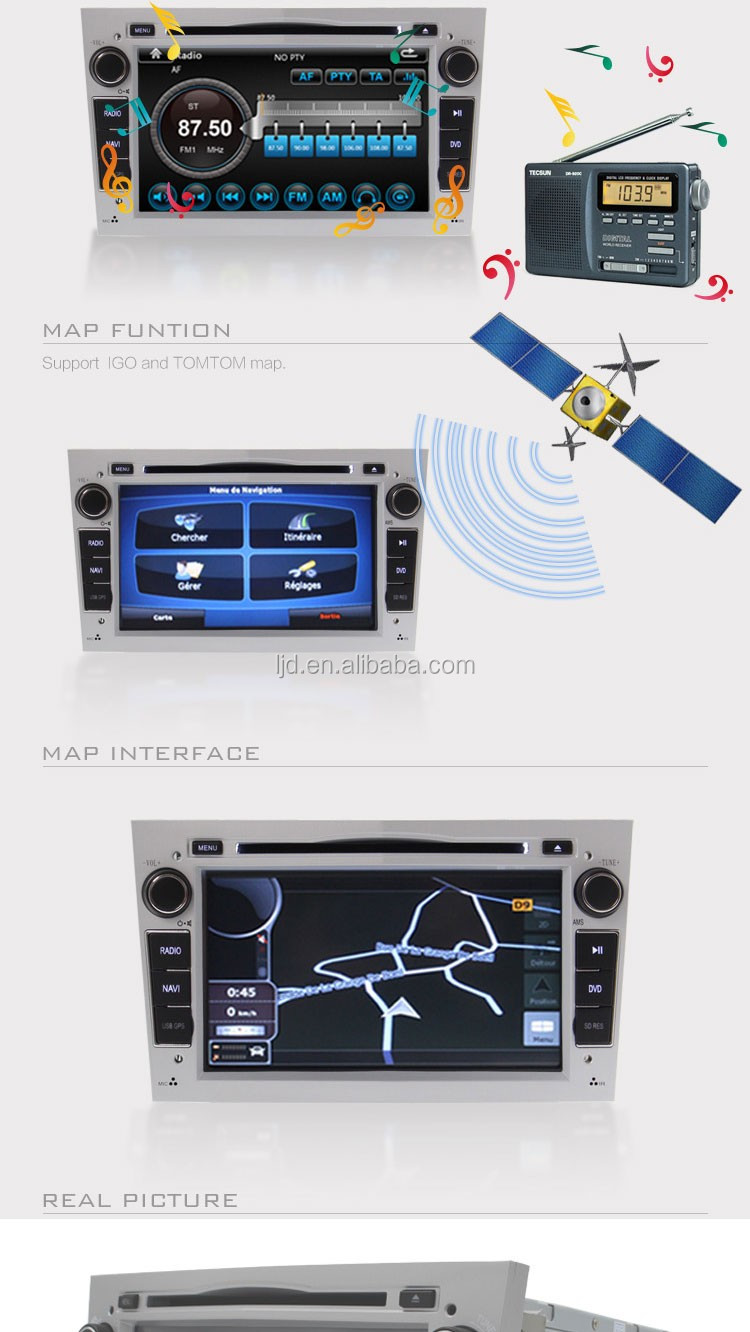 Opel Astra H Car Radio Dvd Navigation System With Bluetooth Usb SD