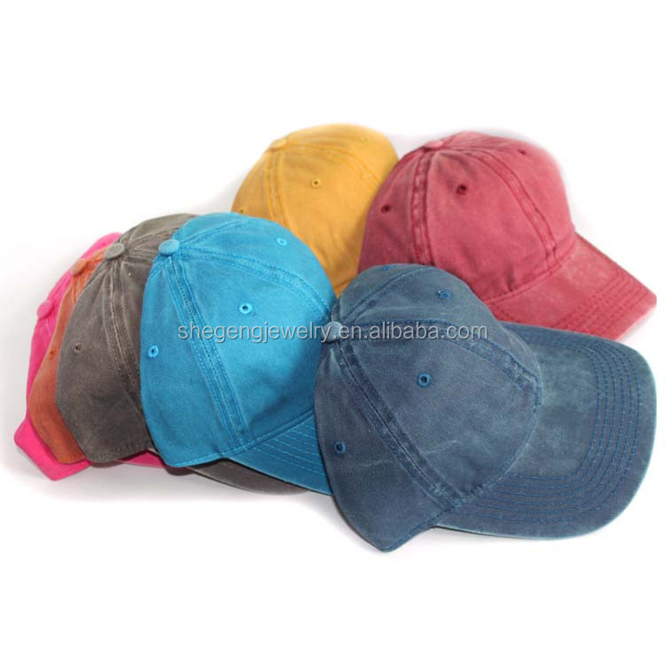 6 Panel Stone Washed Denim Baseball Cap