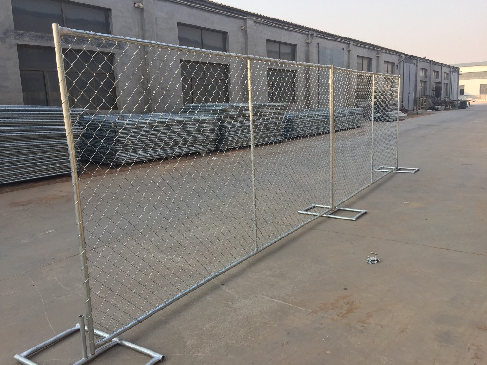 Galvanized Chain Link Temporary Fence Panel With Concrete