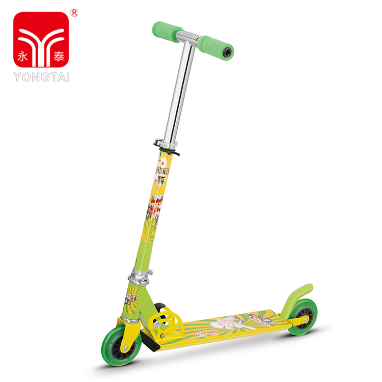 New Fashionable Design Foldable Lightweight Two Wheel Scooter With Foam Handle