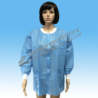 Women gown,Hospital lab coat. SBPP visitor clothes for laboratory protection
