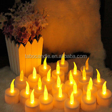 Battery LED Warm White Tea Light Candle with Timer -12 packs