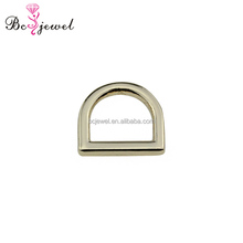 Factory Customize Gold Plating 10mm Small Metal D rings Hardware Accessories for Handbags Strap Backpack Buckles