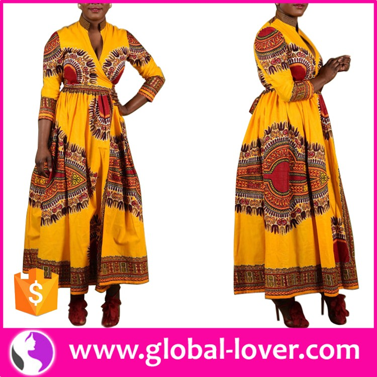 Wholesale Women Formal Long Sleeve Maxi Dashiki African <strong>Dress</strong> Plus Size
