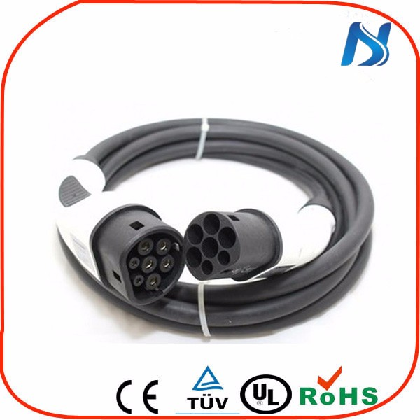 Type 2 ev charging connector 16A 32A male to female plug IEC 62196-2 ev plug