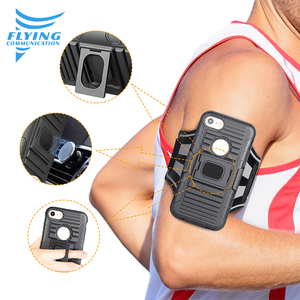 Robot 5 in 1 universal combo holster running arm band phone holder case for Samsung s7 with magnetic car mount