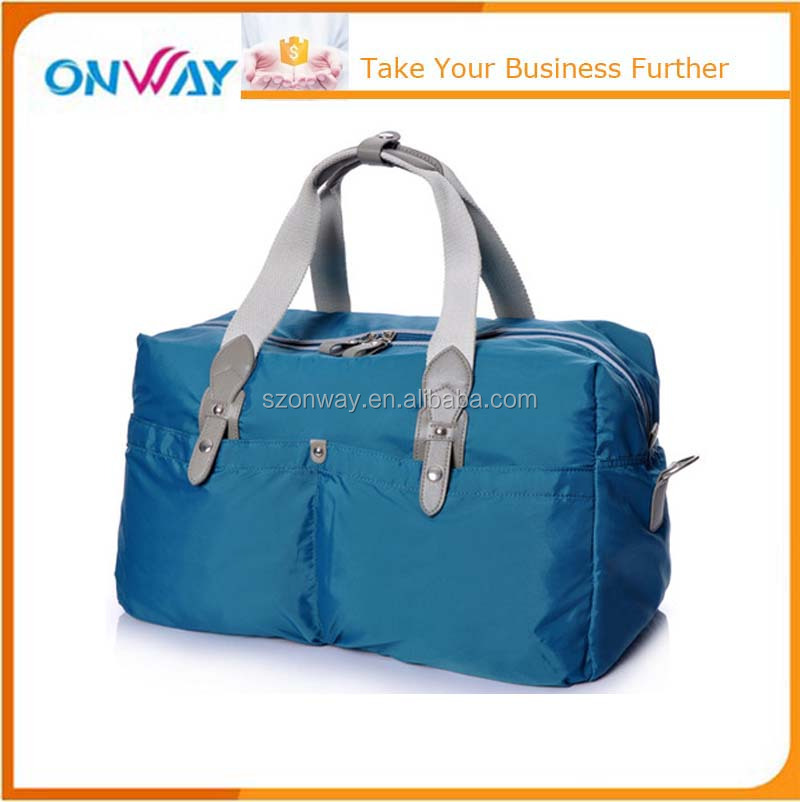 Men women nylon large travel luggage duffle gym bags one day travel bag