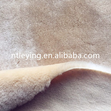 "Hot sale 20%beige color synthetic wool fabric for ""Ugg boots"" LYWB002"