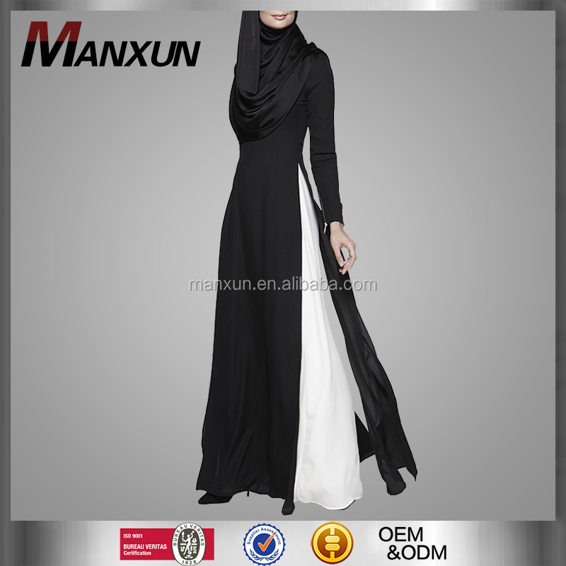 2016 Dubai Wonderful Design Black Abaya Dress For Slim Ladies Chiffon Fabric Burqa Wholesale Online