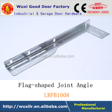 Factory Selling Garage Door Hardware Track Industrial Flag-shaped Joint Angle Galvanized Customized Bracket