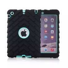 Tire Heavy Duty Hybrid Rugged Rubber Hard Case for ipad mini 1 / 2 / 3