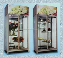 Flower storage fresh display cooled cabinet with all side glass