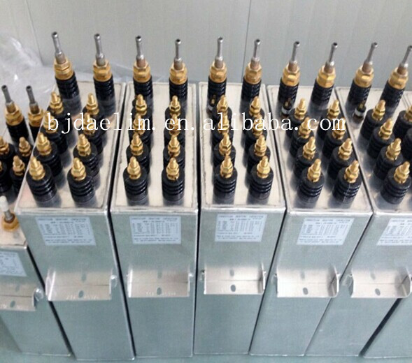 Electrical High Voltage Oil Filled Capacitors , AC power Capacitor 50 KVAR - 500KVAR