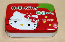 small cute rectangular hinged mints tin