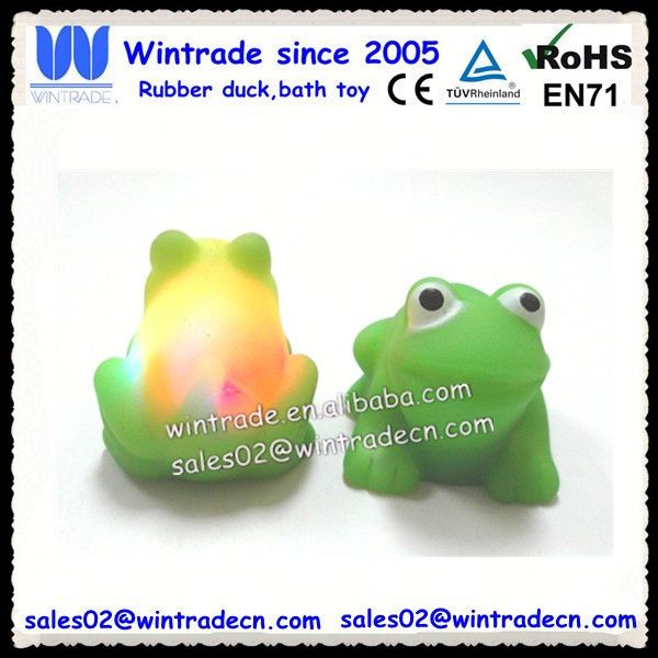 LED plastic frog toy/floating rubber frogs