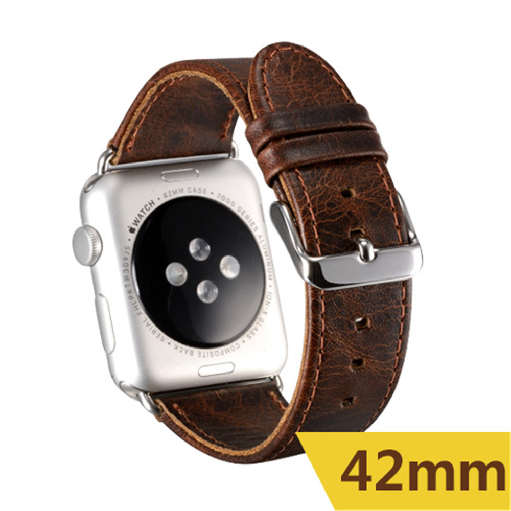 For Apple Watch Band Strap, 42mm Leather Watch Band