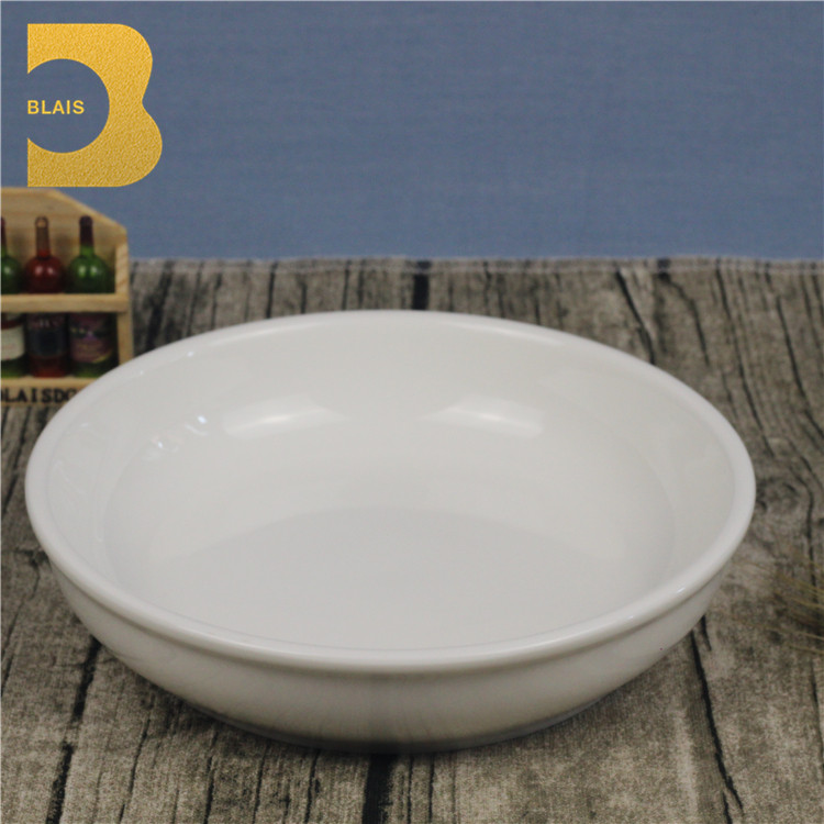 "Whole sale high quality 7"" round white bone china ceremic bowls"