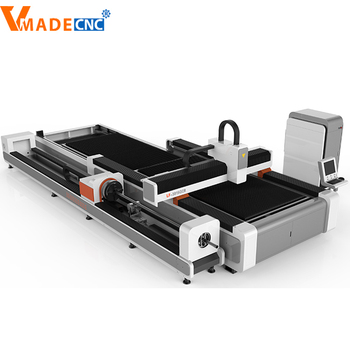 metal tube fiber laser cutting machine Germany ipg fiber 1000 w