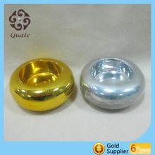 Round Electroplating Silver Bronze and Gold Candle Holder