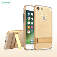 Mobile Phone Shell Soft TPU+PC Material Cellphone Case with stand For iPhone 7