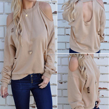 2018 New Spring Women's Casual Round Neck Long Sleeve T-Shirt Blouse Tops