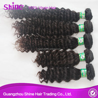 mongolian kinky curl hair extension chocolate 16""