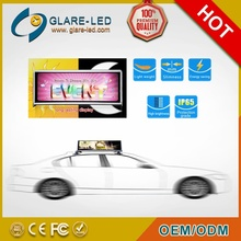 New Design and hot selling led taxi roof advertising sign and taxi top advertising led screen