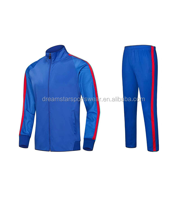 High Quality Blue Sport Jacket ,Cheap Football Tracksuit