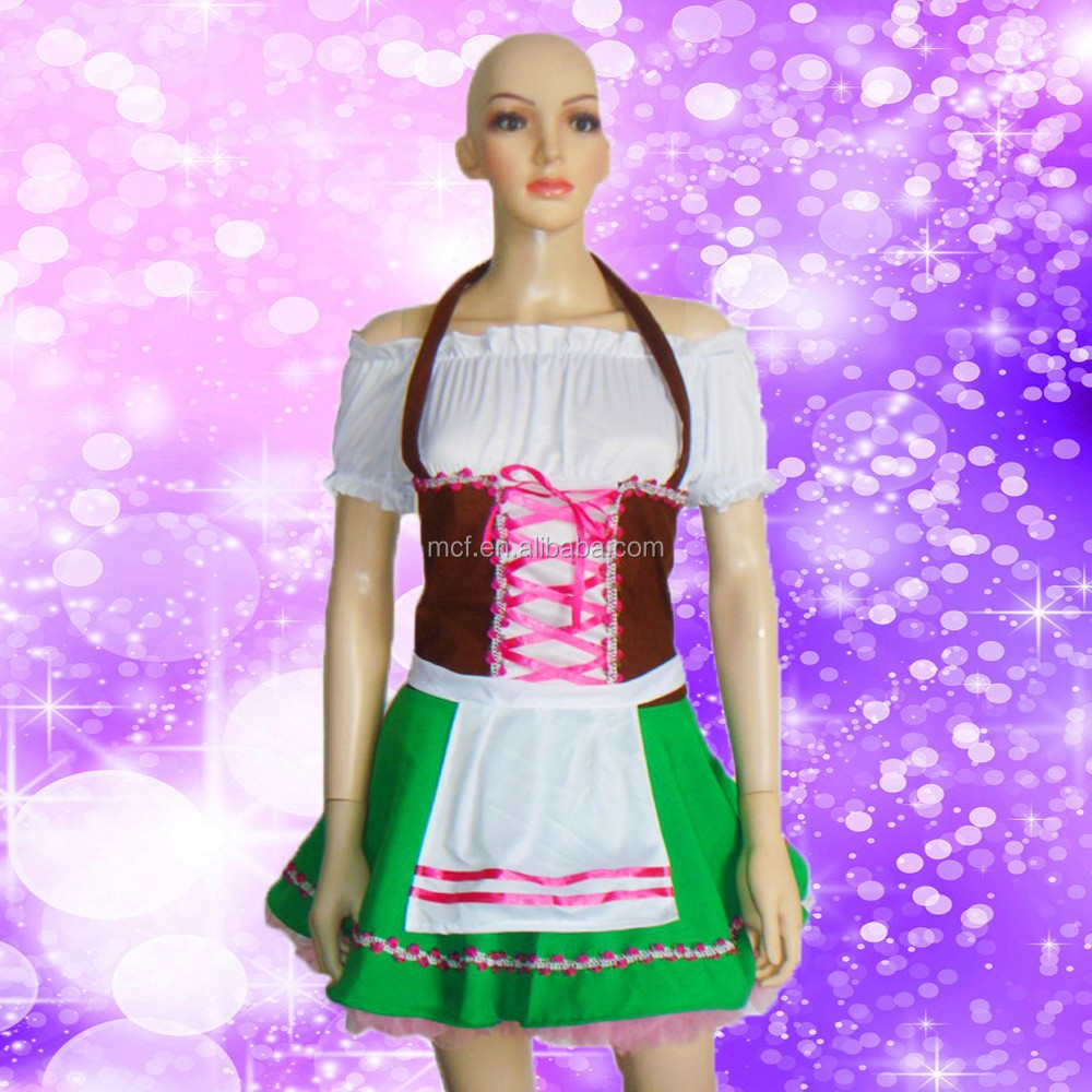 WC-0061 Party Carnival halloween cheap sexy Oktoberfest beer girl dress costume