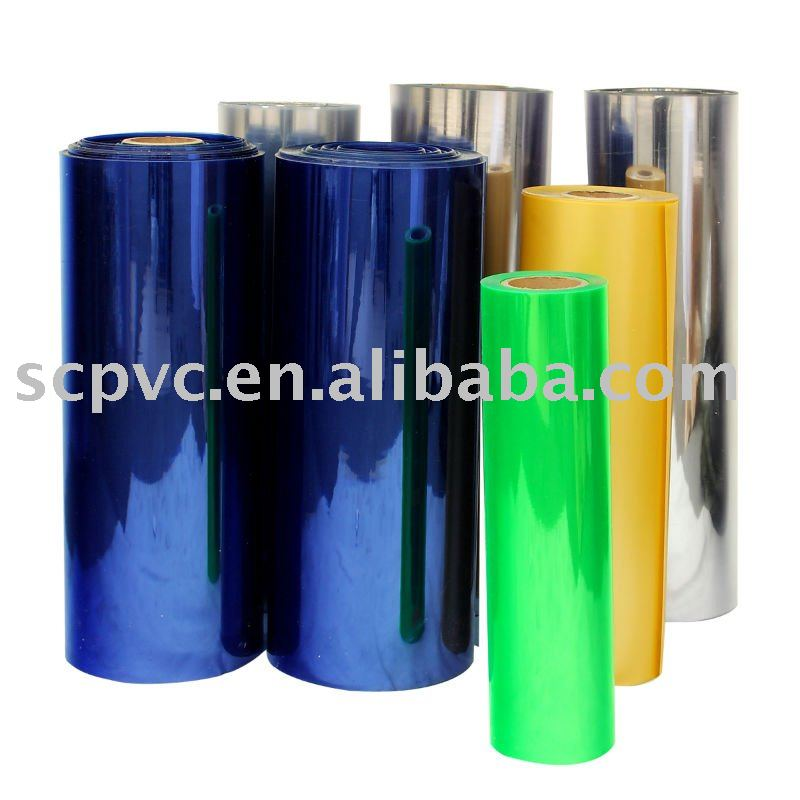competitive color pvc film plastic packing materials/pvc sheet for furniture and pvc lamination sheet