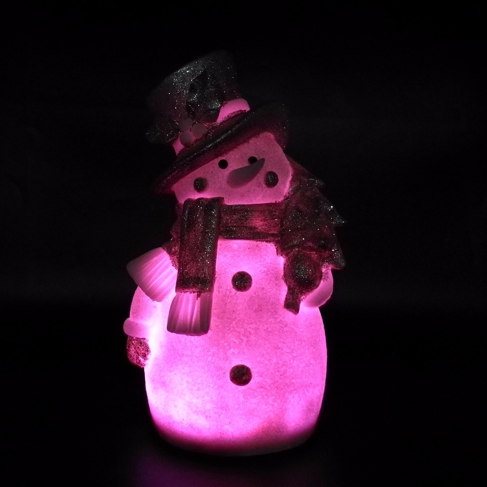 Resin figurine christmas outdoor snowman led funny mini snowman