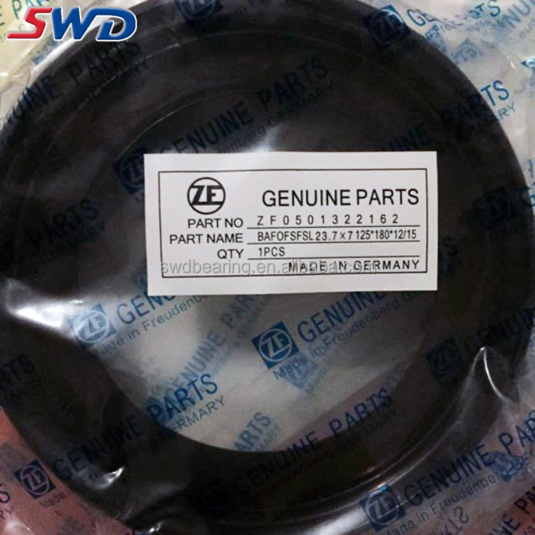 Rubber ZF for Concrete Mixer Truck bearing Reducer oil seal 125*180*12/15 mm
