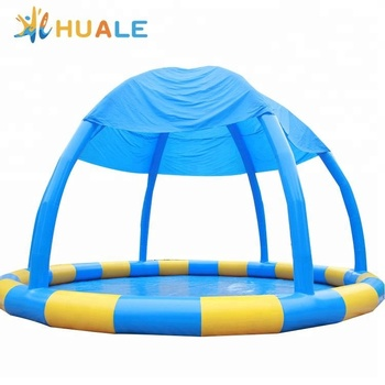 Huale cheap price wholesale round inflatable swimming pool for rental commercial for kids