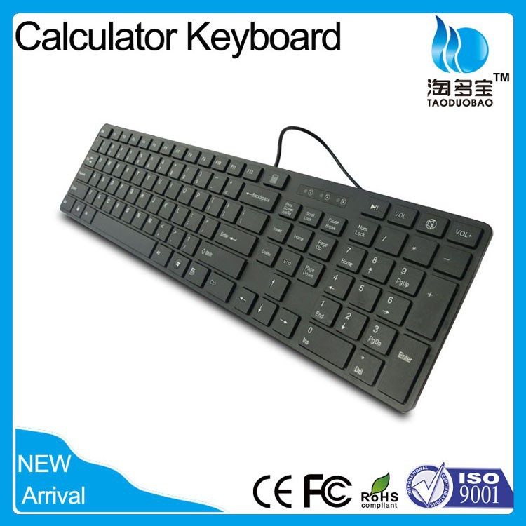 Trade Assurance Best Wired Slim Arabic Keyboard with Calculator from BSCI and ISO factory