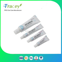coustomized miradent disposable hotel toothpaste cheap mini bulk toothpaste for travel