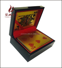 high quality wooden box for 999.9 gold playing cards