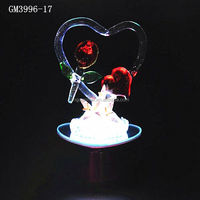 factory supplier romantic beautiful love gift for girl with heart and led light