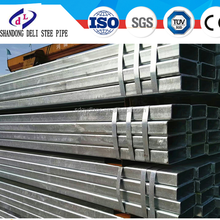 Curtain wall galvanized square tubes /650 g / 280 g hot dip galvanized square pipe