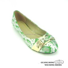 latest style lady fancy diamond decorate snakeskin pattern casual women shoes