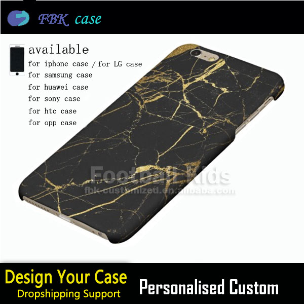 High demand import products Black Gold marble Custom cell phone case for iPhone 6 6plus 5