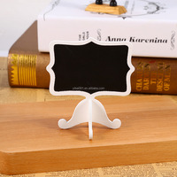 10Pcs Mini Wooden Chalkboard Blackboard Leave Message Table Number Wedding Party Decor Gifts for Children